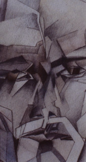 Cubist self-portrait